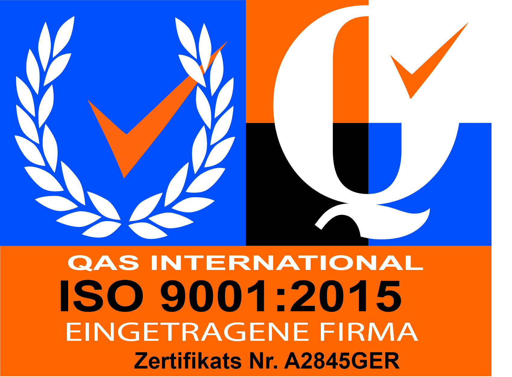 ISO 9001:2015 Nr. A2845GER